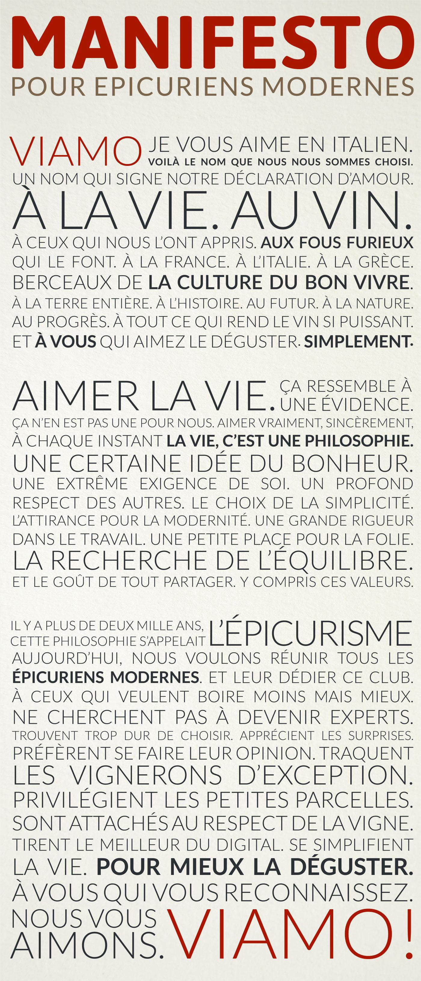 VIAMO Manifesto